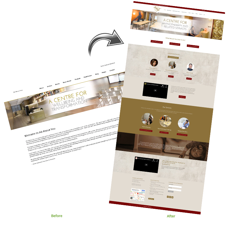 Redesigned and developed using Divi