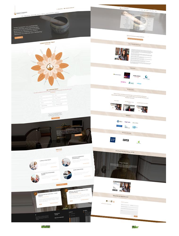 Website developed using Divi